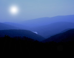 Blue Ridge Mountain Moon (SpringChick) Tags: 2005 blue moon mountain virginia nationalpark interestingness surreal explore layers serendipity shenandoah hue blueridge layered random1 springchickfeedletterbox debslifeblog