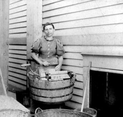 Laundry Lady - Vintage Photo