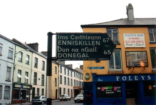 Sligo street sign