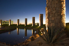 Puerto Peasco, Mexico (memoflores) Tags: lighting travel cactus flores latinamerica nature architecture night landscape mexico puerto hotel outdoor palace tourist guillermo mayan rockypoint seaofcortez mayanpalace peasco memoflores