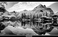 Infrared@China (hk_traveller) Tags: china park trip travel vacation bw white black canon ir photo interestingness interesting asia flickr guilin traveller explore turbo infrared g1   canong1  douban top500   i500 turbophoto