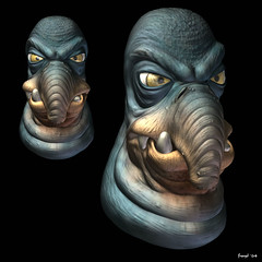 watto (froyd) Tags: fiction portrait art star 3d cg science wars watto zbrush