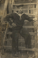 My grandad the sailor. (Eleventh Earl of Mar) Tags: leeds grandad relatives yorkshire liverpool navy sea ocean battle war hmspowerful ww1 worldwarone firstworldwar bw monochrome sepia old ancient