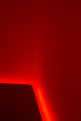 Turrell Corner Floor Blur (ken mccown) Tags: california light red architecture space turrell