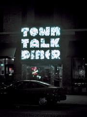 Town Talk Diner at night