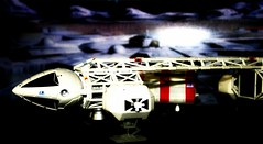 Space 1999 (Medical Transport Eagle)  (mightyquinninwky) Tags: geotagged toy toys model dof eagle bokeh 1999 scifi british sciencefiction moonbase lightbox space1999 lunarbase moonbasealpha wunderground twtme medicaltransporteagle moonbackground geo:lon=84488248 1970stvshow geo:lat=38028618