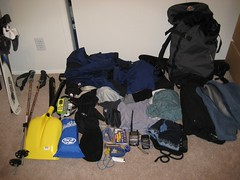 snow bag washington paradise mt skiing hiking powder mount climbing rainier backpack wa trips backcountry whatsinyourbag whatsinmybag