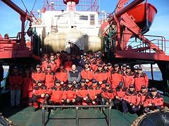 La tripulación del Humboldt 2006