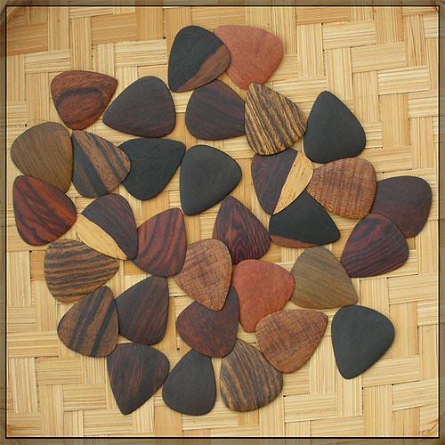 Guitar wood picks