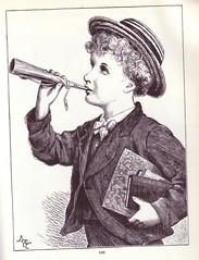 tooting his own horn (sassyarts) Tags: vintage victorian illustrations ephemera horn