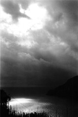 Cinque Terre (Molly Simoneau) Tags: ocean light sea sky bw italy sun mountain mountains rain clouds reflections vineyard italia waves wine country 321 it hike ishootfilm beam sparkle grapes cinqueterre flickritis cinqueterreitalia cinqueterreitaly 72points seaocean lovephotography thebiggestgroup cinqueterreit