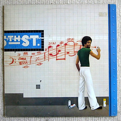 5 th st. (majorette) Tags: blue red music subway graffiti vinyl cover lp record 70s 1976 teppich 5thst sprayer schooldays stanleyclarke tocotronicstinkt tocotronicmusterben unwrdigesgschmei fusionisover