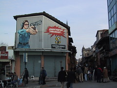yikes (birdfarm) Tags: sign turkey advertising gun shoot ad champion istanbul billboard signage target practice shootingrange marksman markswoman