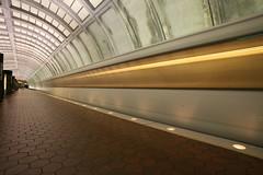4-Second Arrival (Metro at Cleveland Park, Washington) (Bill in DC) Tags: washingtondc metro 2006 apex clevelandpark eos5d bluelist