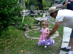 Hailey hunting Easter eggs (ann_blair2003) Tags: child purple eggs hunt easteregg