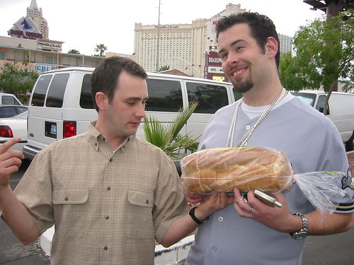 In Vegas, delivery men will comp you some bread