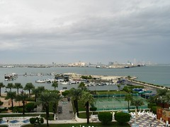 Doha Bay after the storm (drayy) Tags: 2003 desert doha qatar
