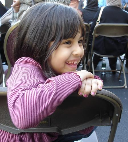 Smiling Girl at  a Yemeni Festival