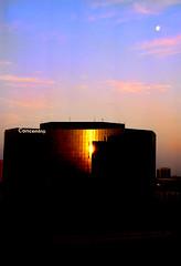 sun & moon (RBWright) Tags: morning sun moon reflection dallas texas