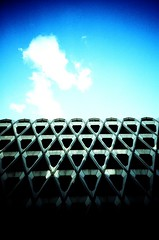 NCP Marylebone (benmason) Tags: blue sky london public concrete lomo carpark ncp londonist snappysnapsmarylebone jessopsslide100asa welbeckstreet