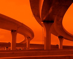 EYE FORTY (JoelDeluxe) Tags: road orange highway albuquerque dukecity spaghetti nm joeldeluxe crossroads i40 joining