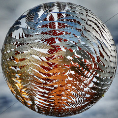 Fernball Squircled (Brenda Anderson) Tags: newzealand sky sculpture metal ball geotagged metallic wellington squaredcircle squircle hdr curiouskiwi fernball pse3 3xp photomatix utatashapesround utatafeature flickrmeet24apr06 imagekind geo:lat=41288775 geo:lon=174777176 mynumberone wellingtonflickrexhibitpotential brendaanderson wfe2007 utata:memberpageskin=ba utata:memberpagelayout=test utata:title=show utata:project=v3test3 curiouskiwi:posted=2006