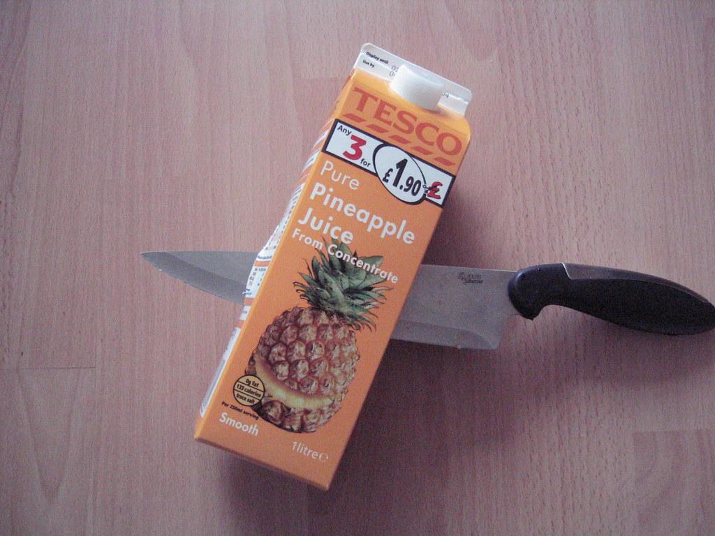 Stabbed Pineapple Juice