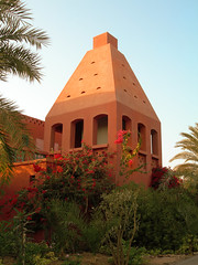 A garden view: Sheraton Miramar Resort El Gouna, Hurghada - Egypt (mnadi) Tags: flowers blue sunset red summer vacation sky orange holiday flower colour garden warm colours outdoor redsea curves egypt sunny resort arabic clear gouna egyptian styles sheraton ethnic spa miramar hurghada michaelgraves bedouin  nubian elgouna bougainvilleas
