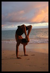 Yoga Hawaii (yogasurf) Tags: ocean beach yoga matt hawaii asana ashtanga yogasurf