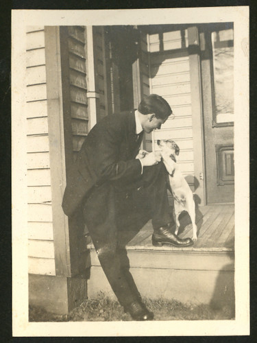 Harry with a dog by Antique Dog Photos.