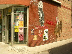 Chicago's starting to look like NYC...(view large). (SKIRT CHASER ONER) Tags: streetart chicago brick pasteup art blueline tag drip camel melt logan viking goons logansquare choke speak bianchi theviking