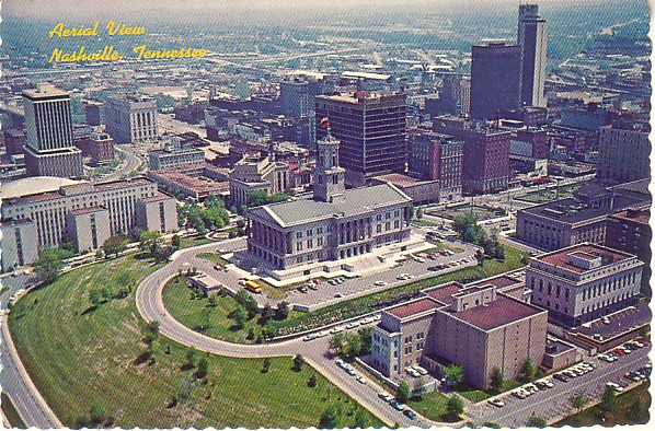 1960s aerial view of the Capitol - Post card