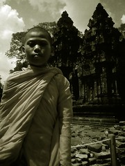 My house (Paolo Aquino) Tags: boy asian cambodia bald monks angkor asianboy skinhead youngboy