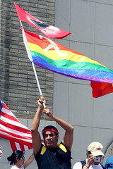 gay united farm workers (jimw) Tags: gay flags downtownla protests ufw hr4437 1mayhuelga daywithoutimmigrants adaywithoutimmigrants unitedfarmworkers
