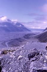 Tasman Glacier (alaskapine) Tags: newzealand 1974 mountcook tasmanglacier