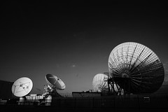 Starless and Bible Black (bitmapr) Tags: bw darkness dish satellite satellitedish blacksky img3227
