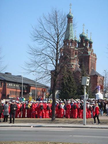 Estudiantes y desfiles