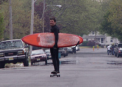 Well, How Would YOU Get Home From a Day of Surfing? (Sister72) Tags: street travel fun newjersey skateboarding surfer wheels surfing transportation surfboard skateboard goinghome sister72 jerseyshore bradleybeach cowabunga monmouthcountynj 123njpeople msh0708 msh070813