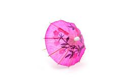Coral (afotographie) Tags: pink umbrella paper decoration cocktail whitebackground simple onwhite