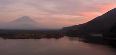 Fujisan sunset (Camera Freak) Tags: pink sunset mountain japan japanese evening asia fuji view nikond100