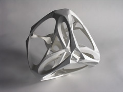 Tetrahedron (Richard Sweeney) Tags: sculpture art geometric nature paper paperart origami fineart craft architectural modular folded organic paperfolding skeletal structural papercraft architectonic naturalform papersculpture artsculpture paperstructure  richardsweeney architecturalorigami