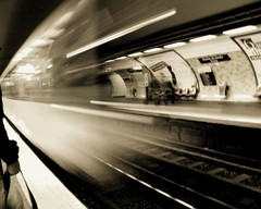 (untitled) ([phil h]) Tags: 15fav motion blur paris france topf25 monochrome topv111 sepia 1025fav 510fav train wow underground subway march moving topf50 topv555 topv333 topf75 500plus minolta