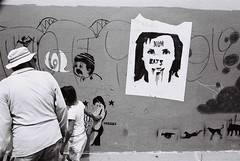 numbats (lynn smith) Tags: urban blackandwhite bw graffiti walls streetscape streetsandpeople