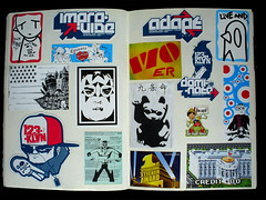 Collection of stickers... (LukeDaDuke) Tags: sticker stickers collection rambo monkeyboy 123klan ninelives 170er lyl soket dickriple verenigdestraten negenlevens 1stinternationalstickeraward