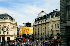 Regent Street (Maia C) Tags: england london buildings crowd regentstreet scanned londonengland july1999 maiac