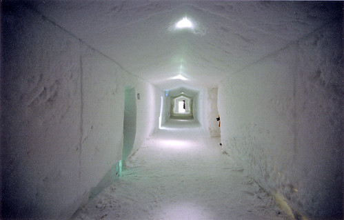 Sweden, Ice Hotel Jukkasjärvi - Corridor