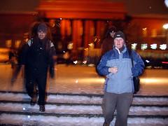 Walking in the snow in Kiev
