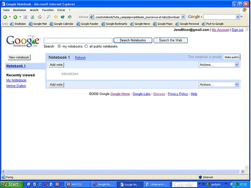 Google Notebook alt