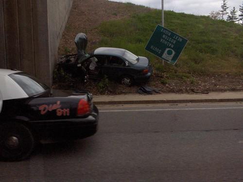 Car Crash in Merrimack (1) by marcn, on Flickr