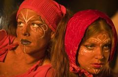 Red Skies at Night (Thomas Hawk) Tags: sanfrancisco california city two usa art women unitedstates faces 10 unitedstatesofamerica performance makeup burningman firearts fireart fav10 fireartsexposition